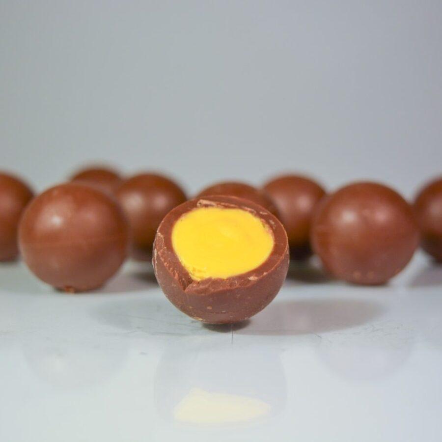 čokoládové blahokoule - mango